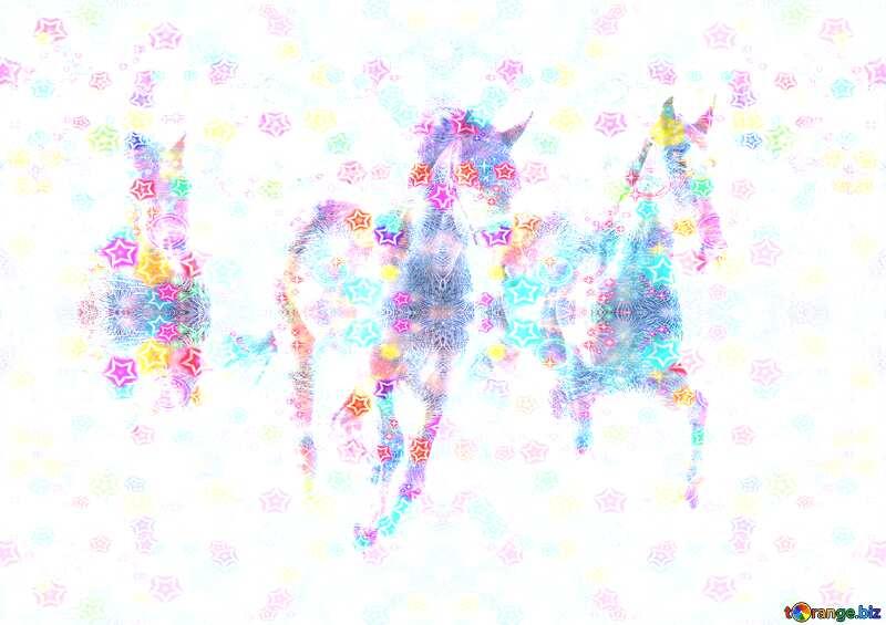 Three lights horses Happy New Year №3981