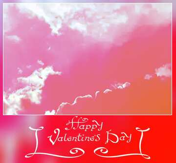 The effect of the dark. Blur dark frame. Happy Valentine's Day.