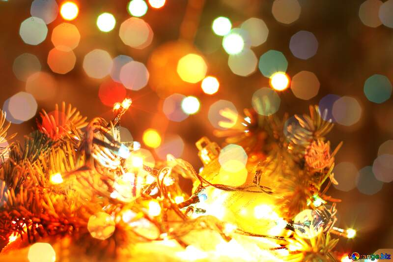 The Bokeh picture on the  desktop wallpaper about Christmas №17950
