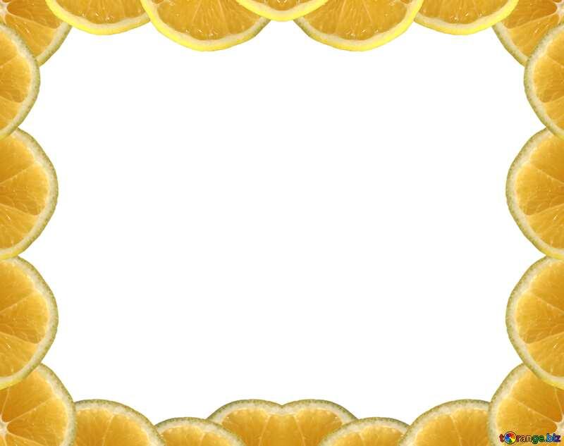 Лимонная рамка №40849