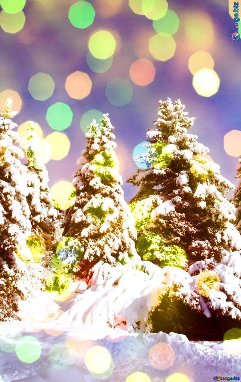 Christmas tree background №10576