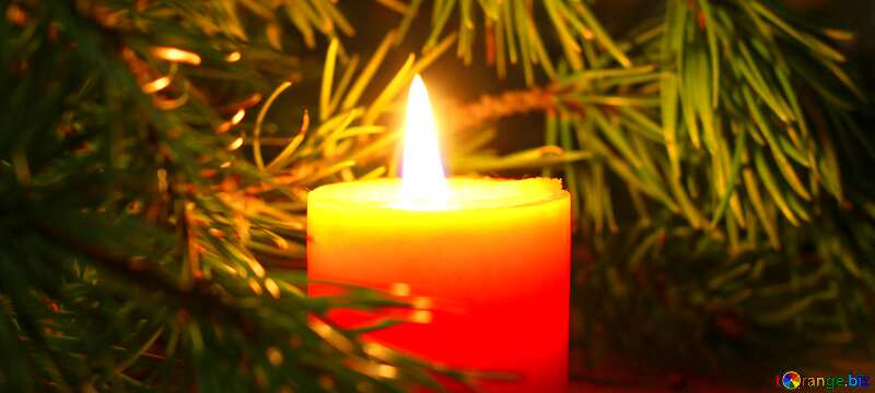 Christmas cover with candles №24632
