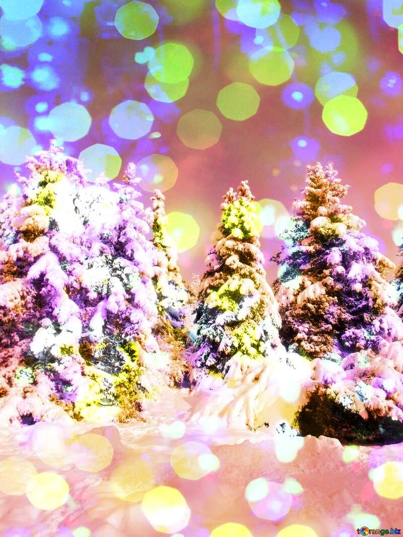 Winter Fir Tree №10576