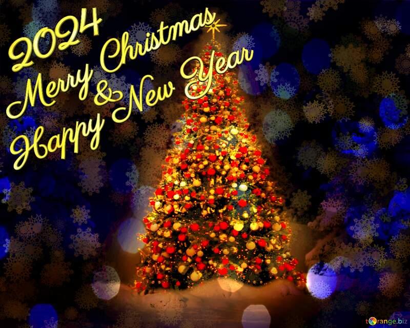 Christmas tree card 2021 №40739