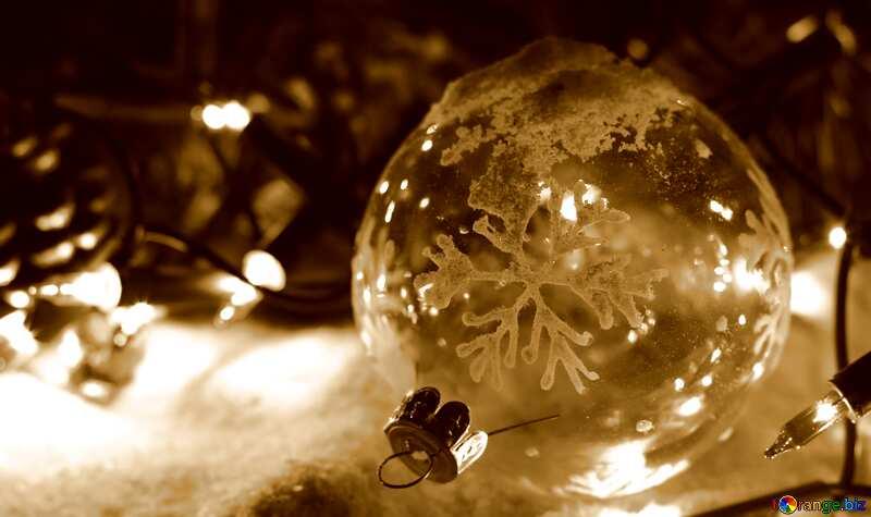 Christmas sepia background №37910