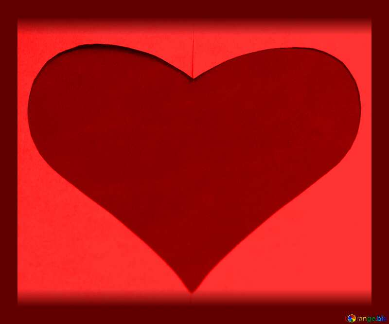 Red heart in frame №7142