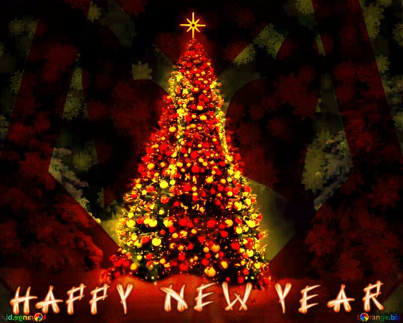 Christmas Tree with Happy new Year №40739