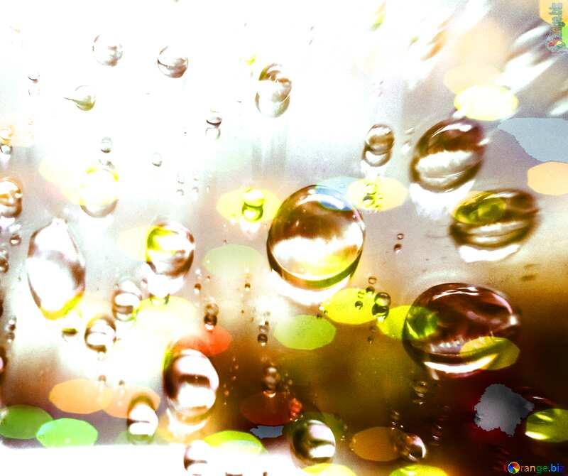 Raindrops yellow background     №47981