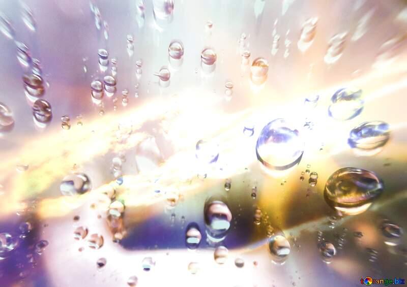 капли воды на стекле. Капли дождя №47981