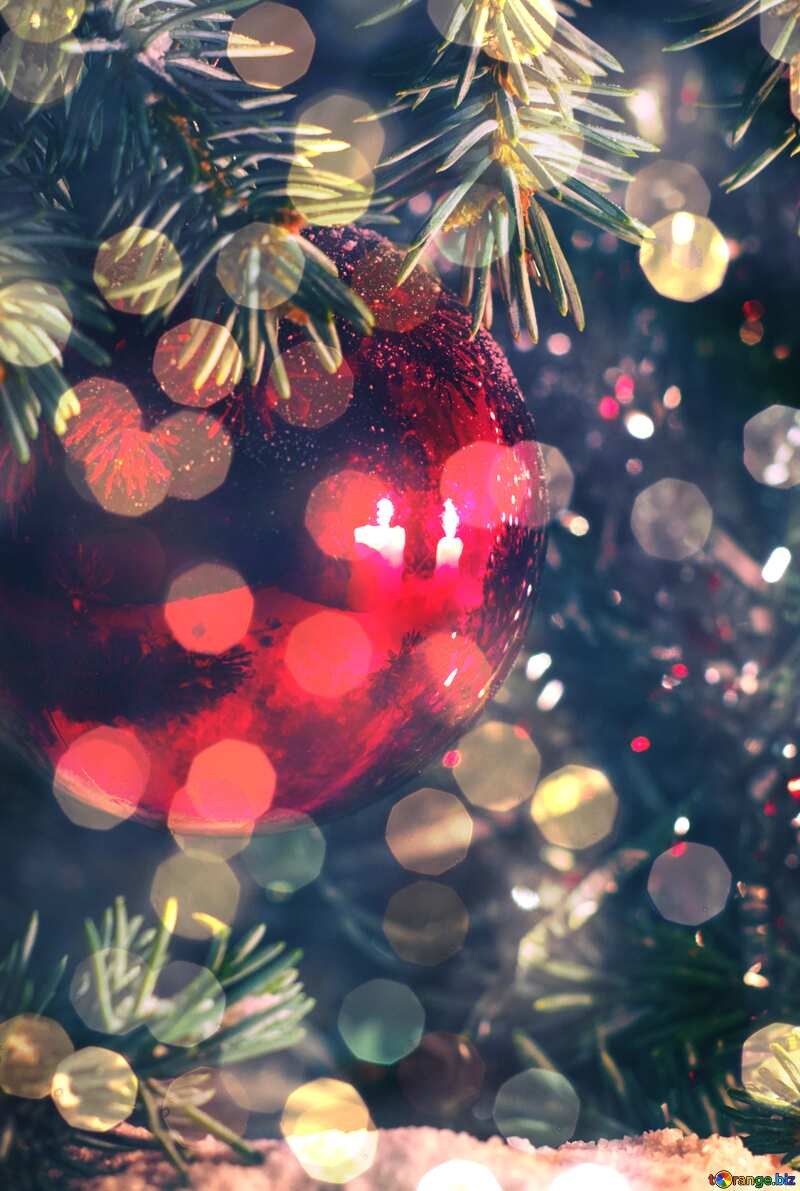 Christmas Greeting Cards bokeh  background №15353
