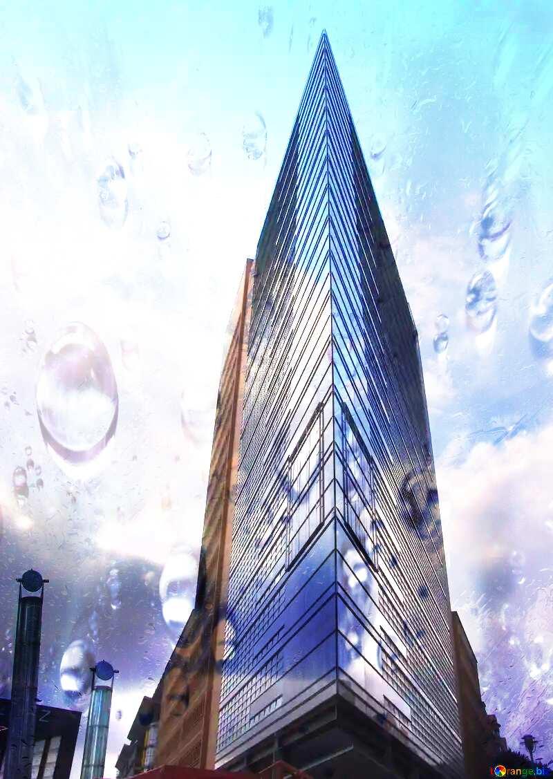 Modern architecture Drops dew №12135