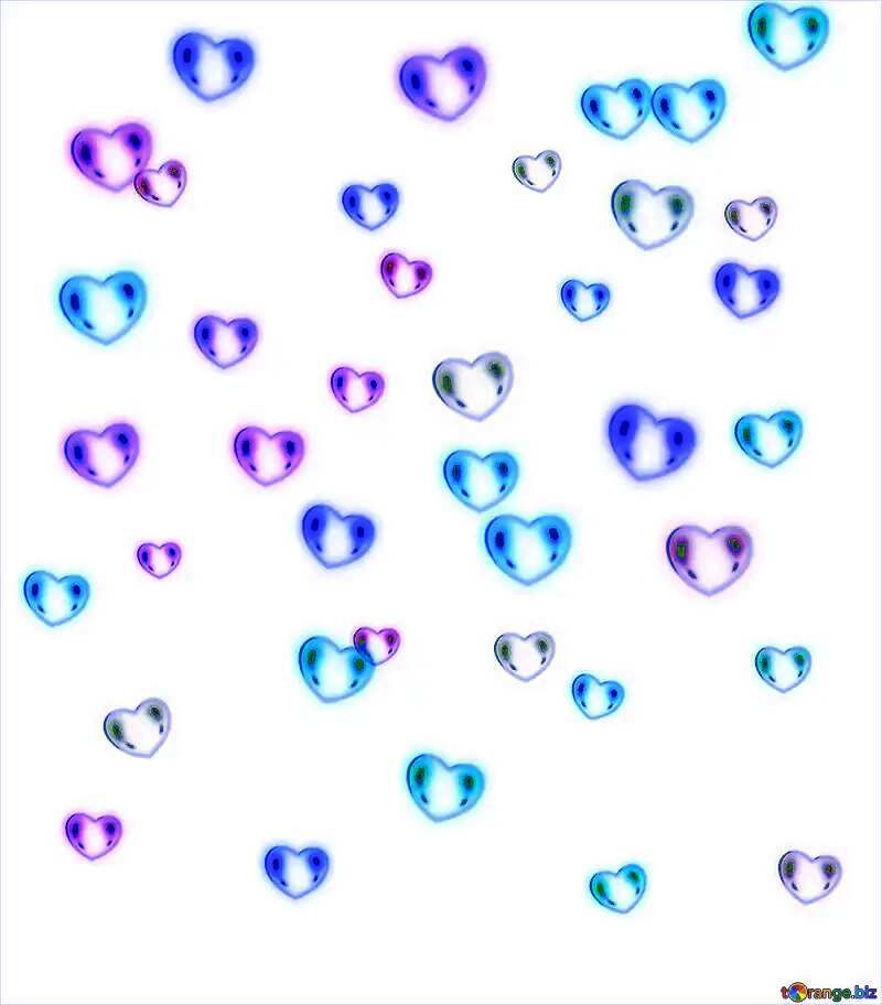 Blue hearts №39946