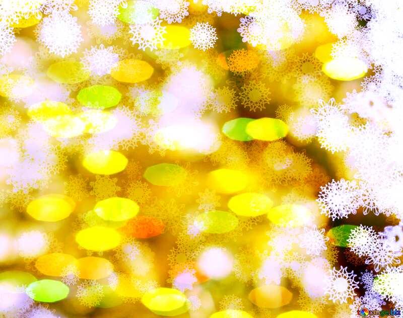 New year golden background bokeh №40719