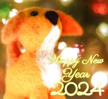 Эффект светлый. Очень яркие цвета. Эффект размытой рамки. Фрагмент. Happy New Year 2020.