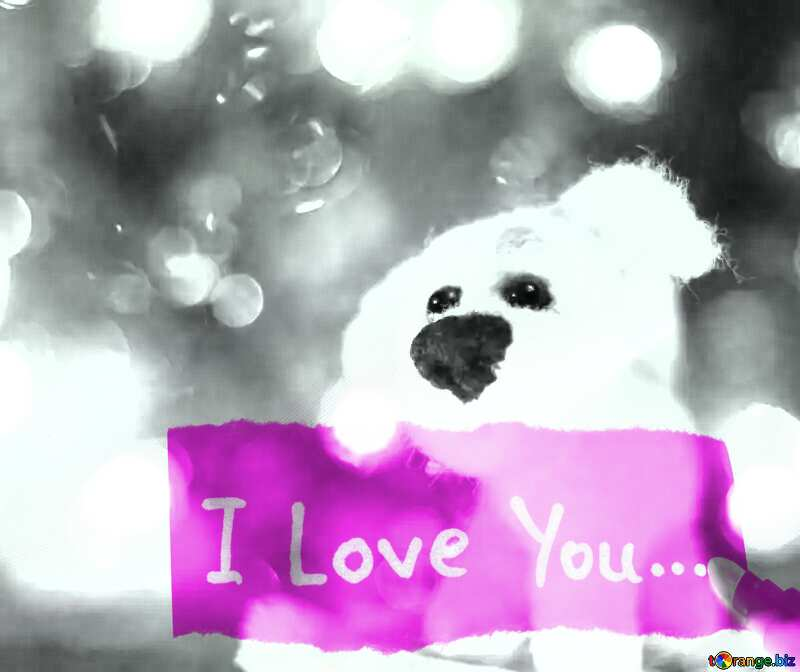 Download free picture I love you inscription Fancy dog. on ...