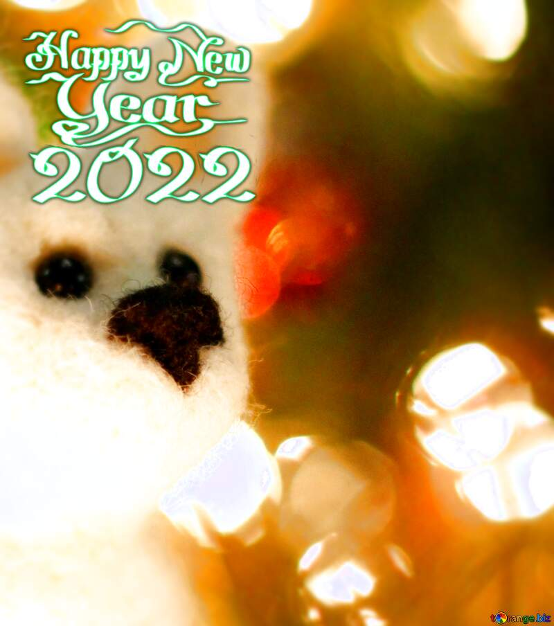 Happy new year 2021  dog. Copyspace greetings background. №49641