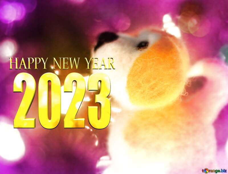 Happy new years 2020 dog. №49613