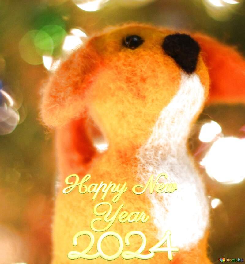 Happy new year 2021  puppy dog. №49634