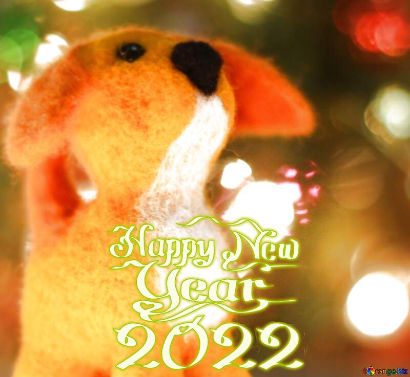 Download free picture Happy new year 2020 yellow dog ...