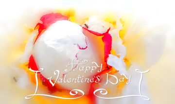 The effect of light. Very Vivid Colours. Blur frame. Fragment. Happy Valentine's Day.