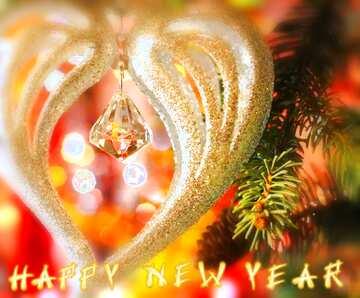 El efecto de la luz. Colores muy vivos. Bastidor la falta de definición. Fragmento. Card with text Happy New Year.