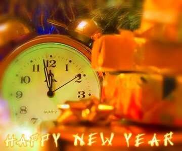 Die Wirkung von Licht. Sehr klare Farben. Unschärfe Rahmen. Bruchstück. Card with text Happy New Year.