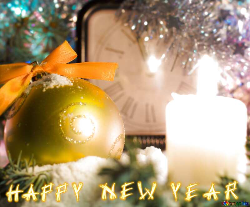 HAPPY NEW YEAR greetings blur frame card №15375