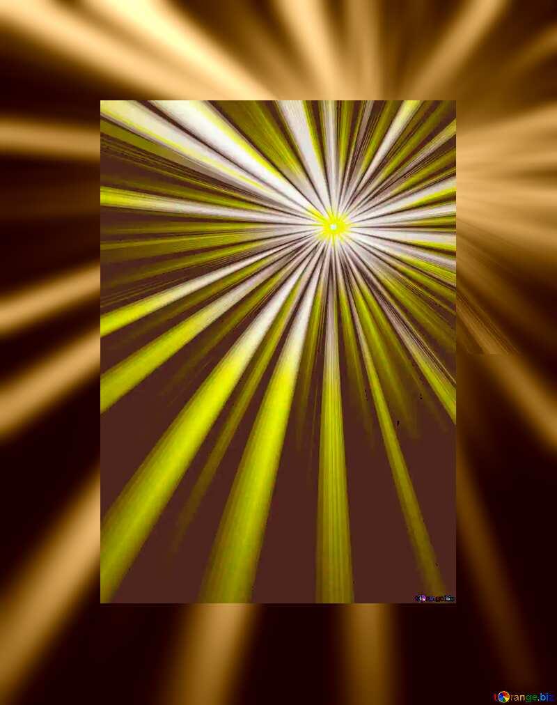 Rays sunlight fuzzy border frame №49660