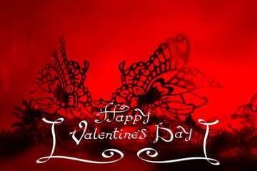 The effect of the mirror. The effect of macro blurring the top and bottom. Happy Valentine's Day.