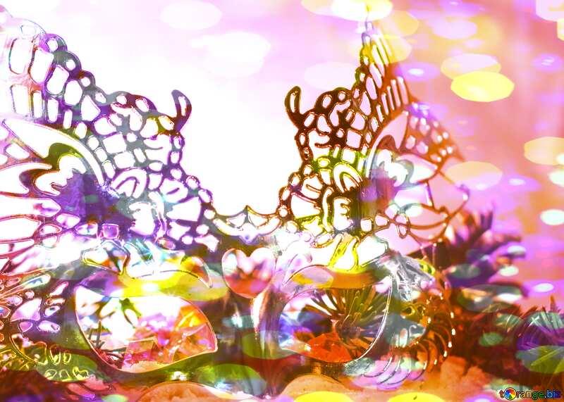 Masquerade ball Bokeh colored lights №17905