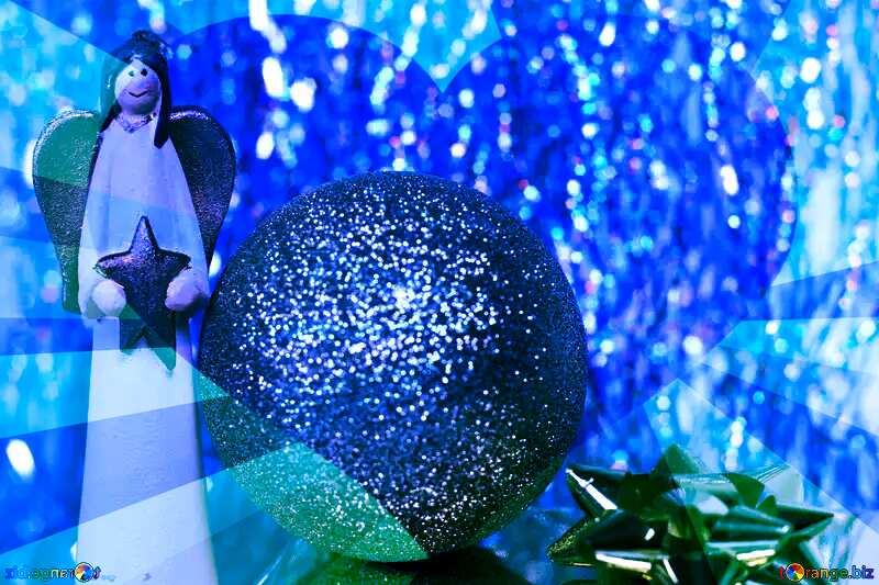 Blue Christmas Postcard №6574