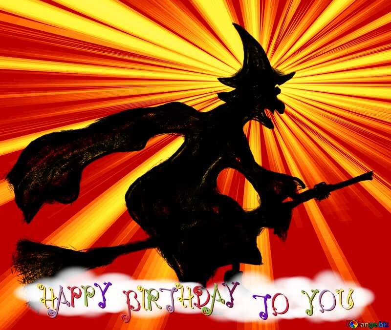 Card witch happy birthday №40584
