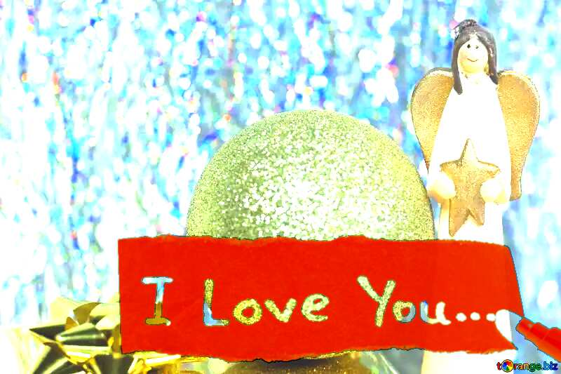 Christmas  Postcard I Love You №6574