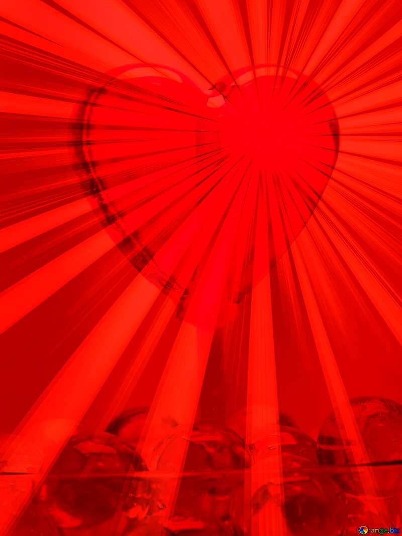 red rays of heart №17437
