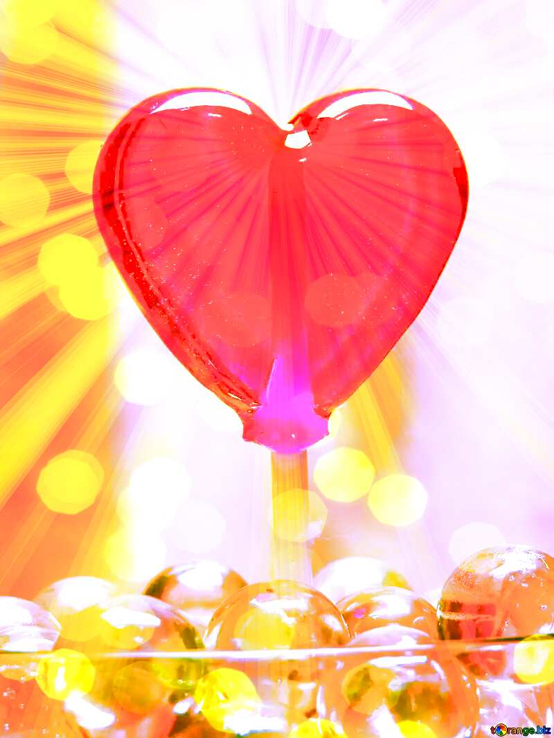 A red heart with sparkly white light №17437