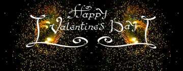 The effect of light. Vivid Colors. Template. Happy Valentine's Day.