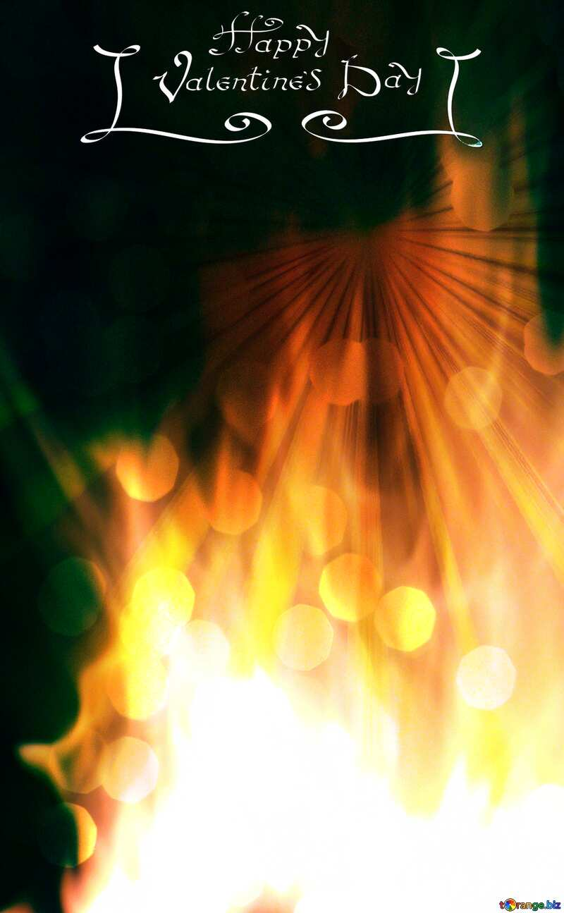 Background. Fire  Wall happy valentines day №9546