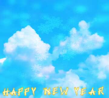 Bruchstück. Card with text Happy New Year.
