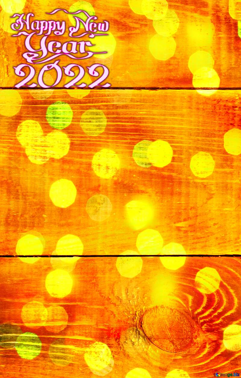 Wood texture happy new year bokeh  lights background №37899
