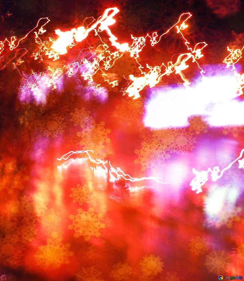 blurry lights at night road №8044