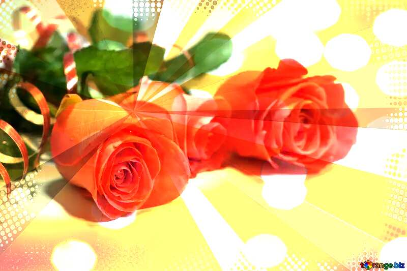 Red Roses rays card №7203