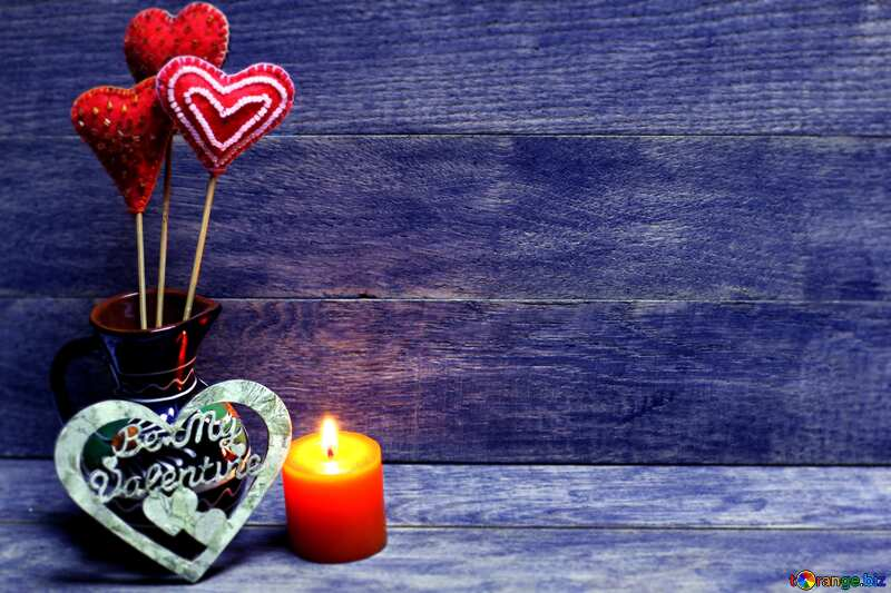 Love background with candles blue №49216