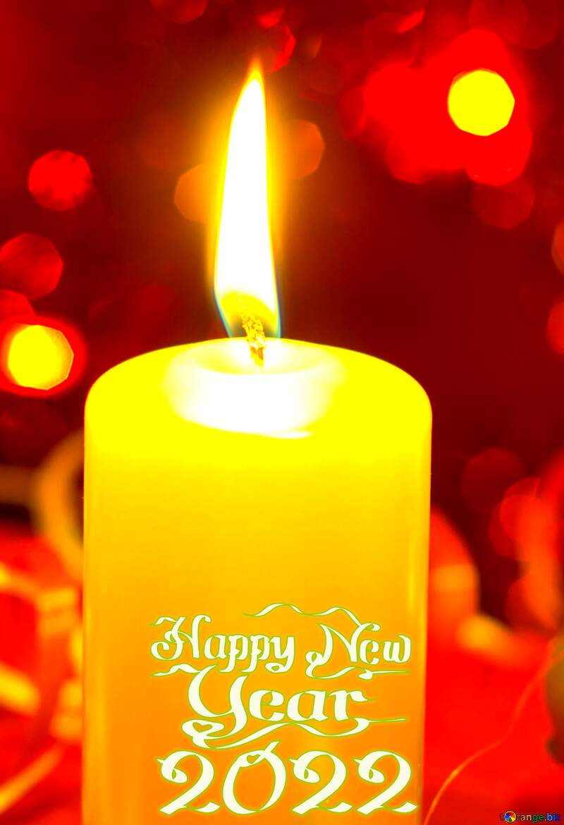happy new year 2020 Christmas Card with candle №15051