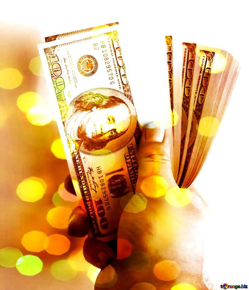 Money dollars  bokeh background №1528