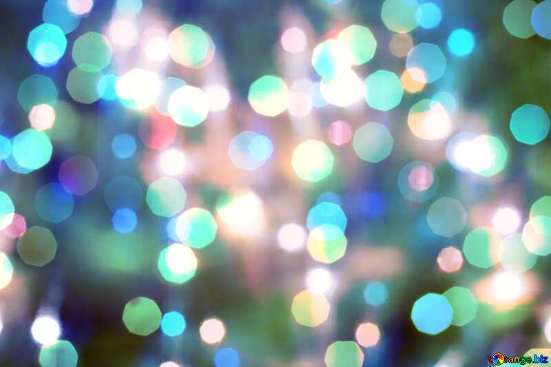 Bright lights background for Christmas №24606