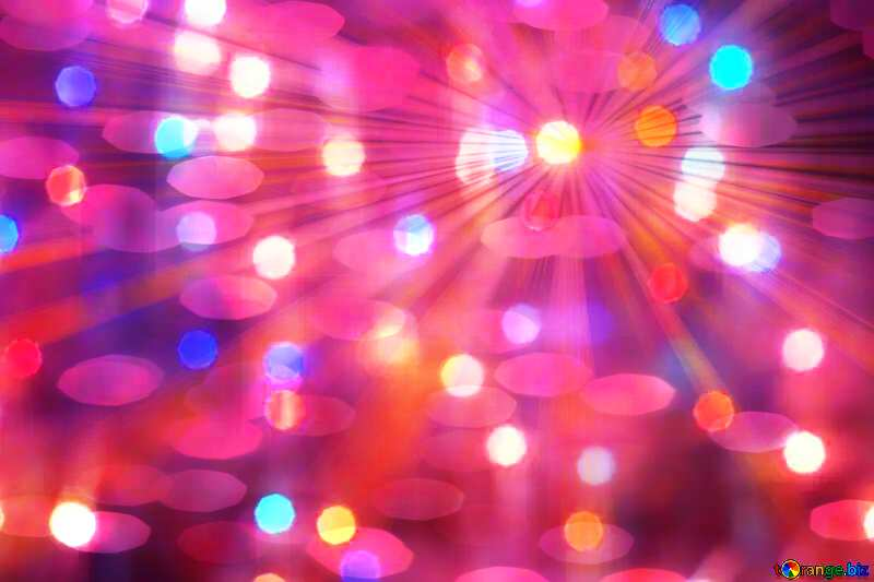 Bright rays bokeh holiday background pink №24606