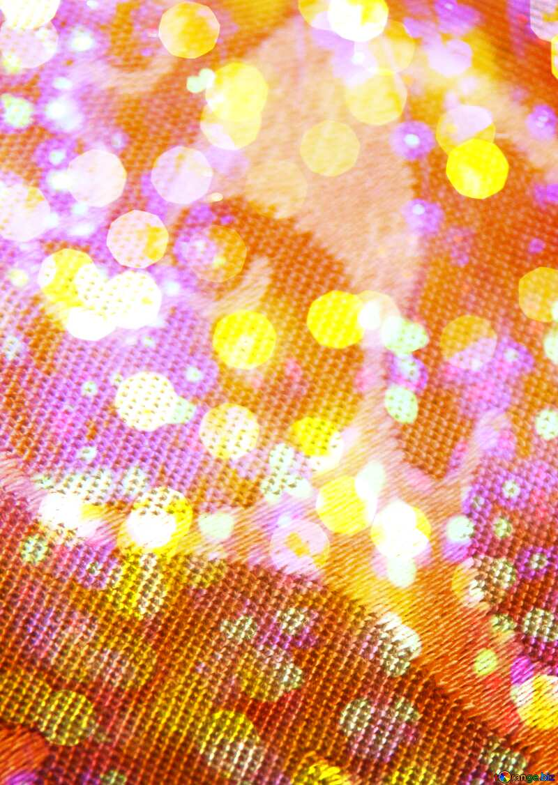 The texture of fabric through the lens. Macro. Bokeh colored lights background №1393