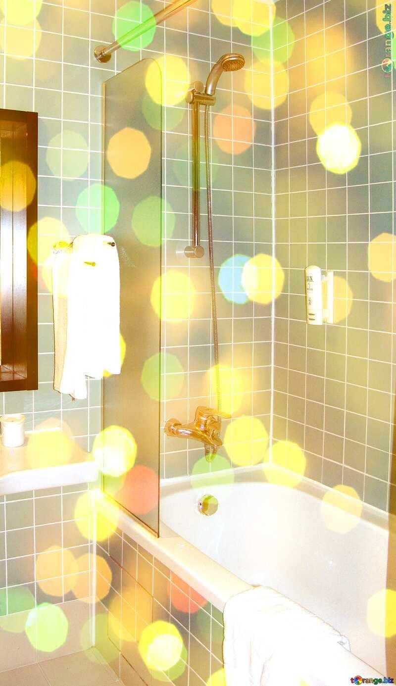 Bathroom Room background bokeh №8420