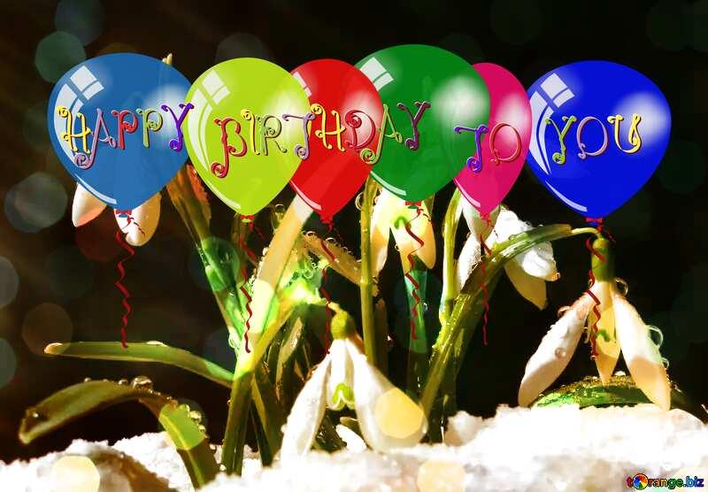 balloon, plant, birthday, snow №38361