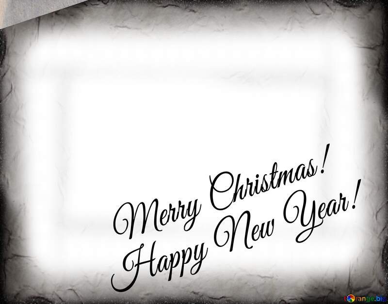 Merry Christmas  Happy new year overlay retro frame №33532